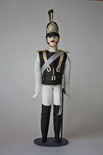 Doll gift. Cuirassiers. The military uniform. 1818 - 1820, Russia