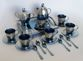 Zirconium coffee set for 6 persons with a tray in a wooden gift box - view 2