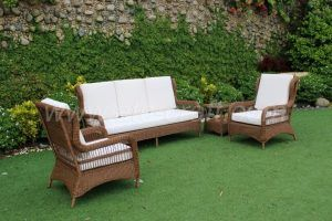 Modern Brown Outdoor Wicker Sofa Set RASF-045 Style 2