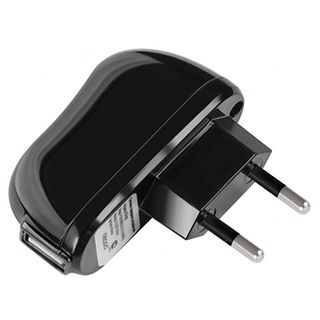 DEPPA / Mains charger (220 V) 1 USB port, output current 2.1 A, black