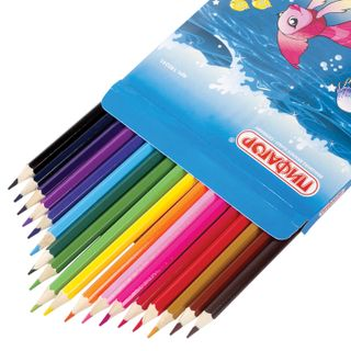 """Crayons PYTHAGORAS """"Fairy world"""", 18 colors, sharpened, cardboard packaging, design assorted"""