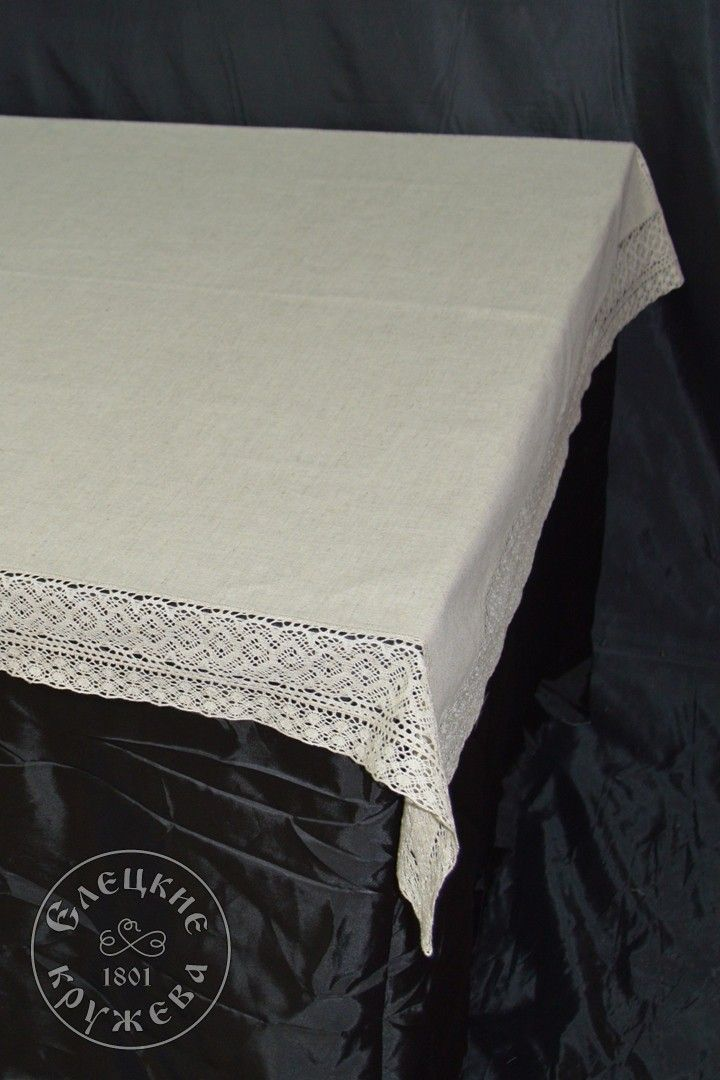Yelets lace / Linen tablecloth С2072А