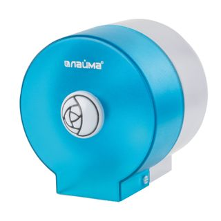 LIME / Standard Roll Toilet Roll Dispenser ROUND Tinted Blue