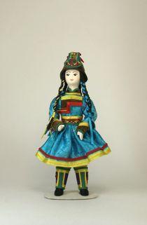 Doll gift. Girl.Buryatia.Styling.