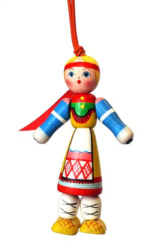 Doll gift Girl in Russian folk costume of Kursk province