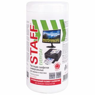 STAFF / Wet wipes for all types of screens and plastic