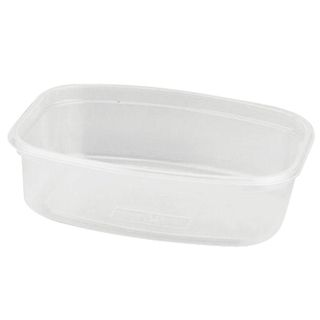 STIROLPLAST / Disposable rectangular container, 350 ml, WITHOUT LID, 139x102x43 mm, PP, transparent (lid 604260)