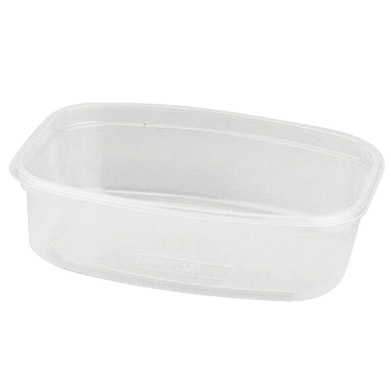 STIROLPLAST / Disposable rectangular container, 350 ml, WITHOUT LID, 139x102x43 mm, PP, transparent (lid 604260)