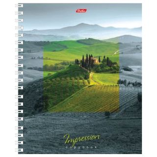 Notebook A5, 120 sheets, HATBER, comb, cage, hard cover,