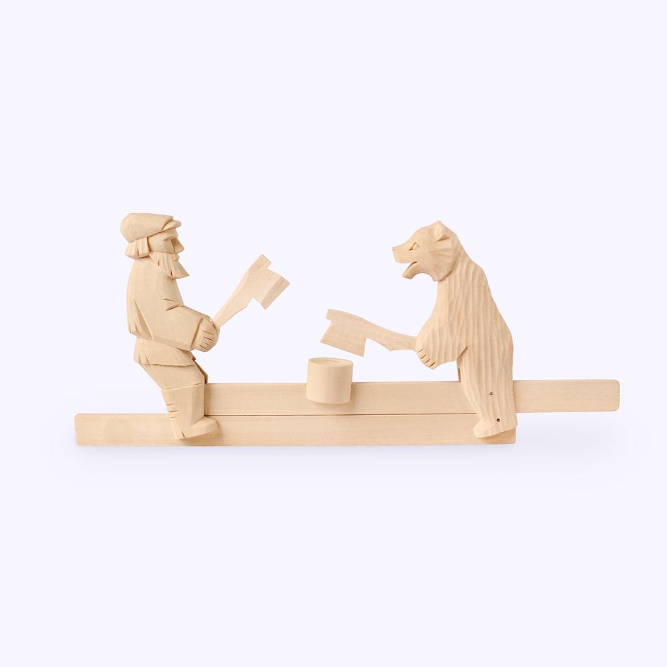 "Bogorodskaya toy / Wooden souvenir ""Woodcutters"""