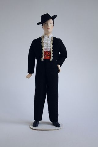 The male costume of the 19th-20th centuries. Andalusia. Spain. Doll gift