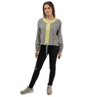 "Jacket women's ""Wilsonia"" gray with silk embroidery"