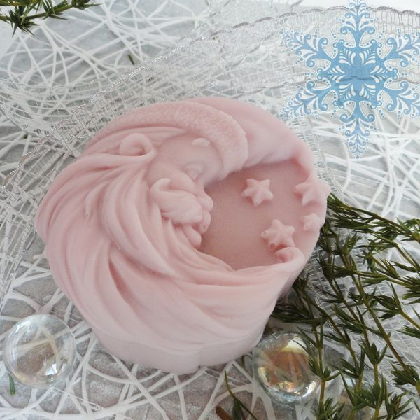 Month - Santa Claus lilac - home gift soap