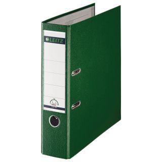Folder-Registrar LEITZ, the mechanism 180°, coating plastic, 80 mm, green