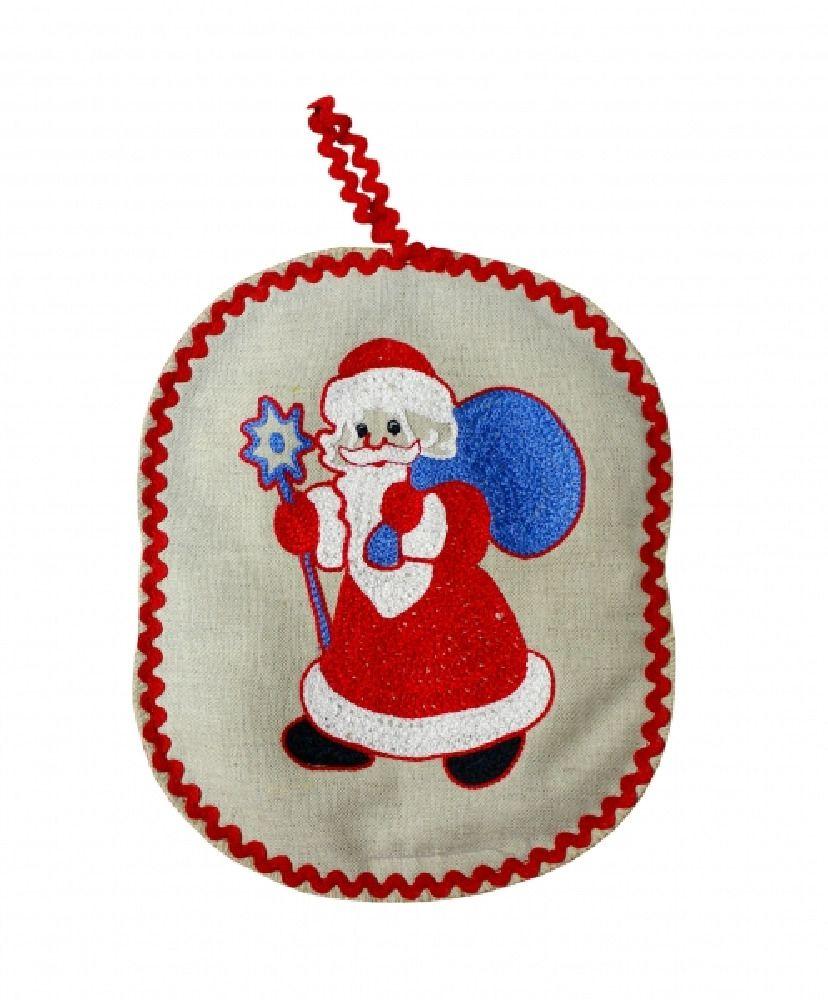 "Potholder ""Santa Claus with bag"""