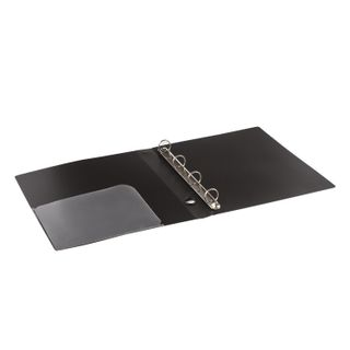 Folder on 4 rings BRAUBERG Diagonal, 40 mm, black, up to 300 sheets, 0.9 mm