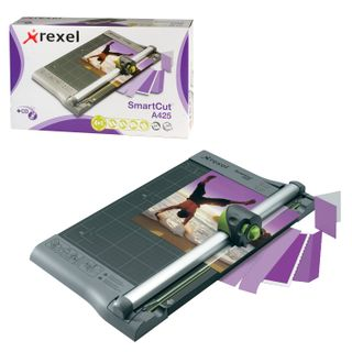 Roller cutter REXEL A425PRO, 10 l, cutting length 320 mm, 4 cutting styles, metal base, A4