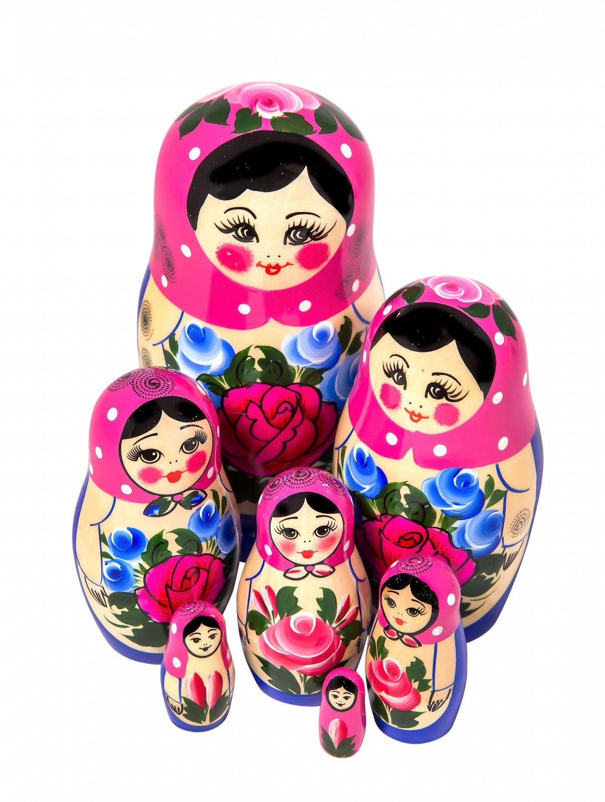 Khokhloma painting / Matryoshka unconventional 7 dolls