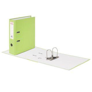 Folder-Registrar BRAUBERG with a coating of PVC, 80 mm, corner, lime (double life)