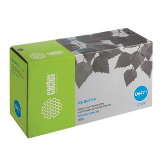 Toner cartridge CACTUS (CS-Q6471A) for HP ColorLaserJet 3600N / 3600DN / 3800N, cyan, resource 4000 pages.