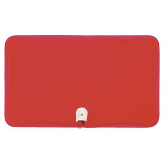 Folder for notebooks A5 PYTHAGORAS, plastic, zipper around, one tone, red