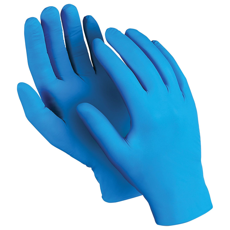 "MANIPULA / Nitrile gloves ""Expert"", powder-free, SET of 50 pairs, size 7 S, blue"