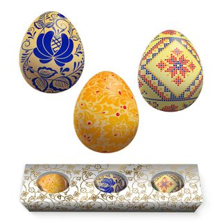 A set of chocolate Easter eggs
