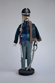 Doll gift. Hussars of the Russian-German Legion. the beginning of the 19th century. Russia. The military uniform.