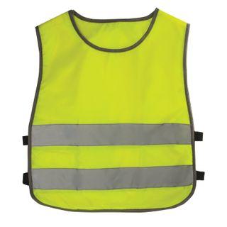 Children's vest REFLECTIVE, size 30-34, height 122-140 cm, 7-10 years old, bright green (lemon)