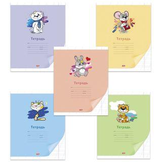 Notebook 12 sheets, HATBER VK, oblique line, cover cardboard,