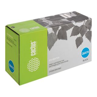 Toner cartridge CACTUS (CS-Q6470A) for HP ColorLaserJet 3600N / 3600DN / 3800N, black, yield 6000 pages.