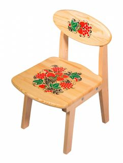Khokhloma painting / Wooden children's folding chair, 1 height category
