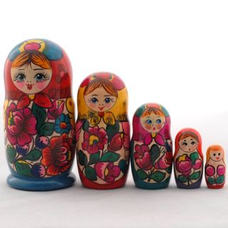 The red-haired doll 5 dolls Polkhovsky Maidan