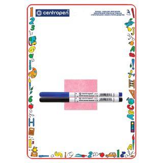 Bilateral Board marker A4 (240х337 mm), CELL/LINE, 2 markers + cloth, CENTROPEN