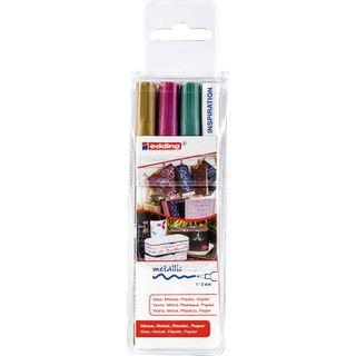 Edding / Glossy varnish marker set, round nib, 1-2 mm, 3 pieces 3 colors