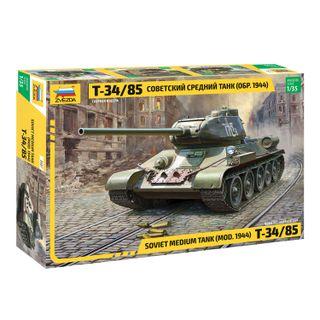Model for bonding TANK Middle Soviet T-34/85 sample 1944, scale 1:35, STAR