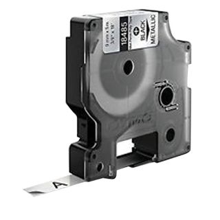 DYMO Rhino Label Printer Cartridge, 9 mm x 5.5 m, Polyester Ribbon, Extreme Temperature, Black Print, Metallic