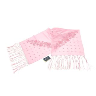Tippet Vasilki pink color with silk embroidery
