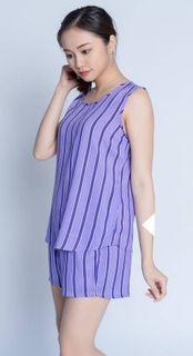 Women's purple pajamas with shorts
