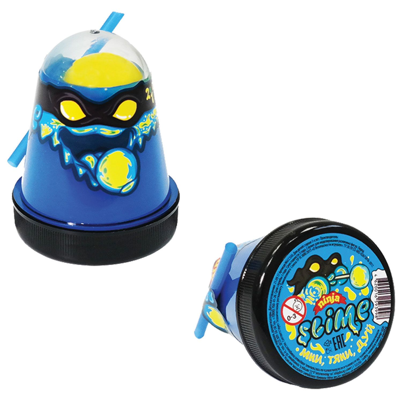 "Slim (lisun) ""Slime Ninja"", 2 in 1, blue, yellow, 130 g, WORLD"