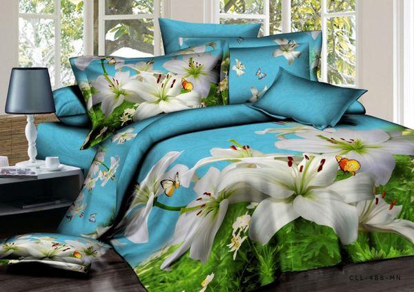 Satin bed linen 3D butterfly