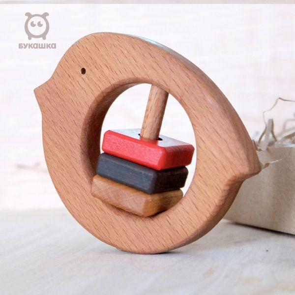 """Bug / Wooden rattle """"Snegirek"""""""