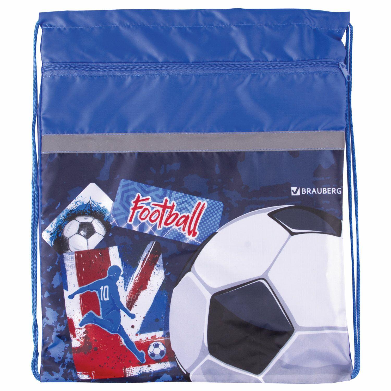 "Shoe bag BRAUBERG, dense, enlarged, 49х41 cm, ""Football"""