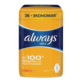 ALWAYS (Olweiss) / Feminine hygienic pads Ultra Light Quatro, flavored, SET 36 pcs.