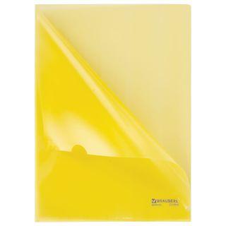 Folder corner hard BRAUBERG, yellow, 0.15 mm