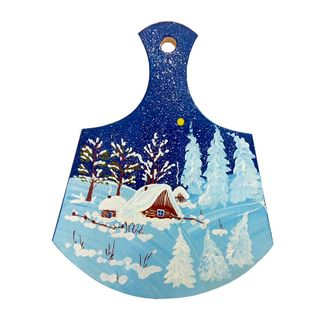 "Board kitchen wooden ""Winter"" 23 cm"