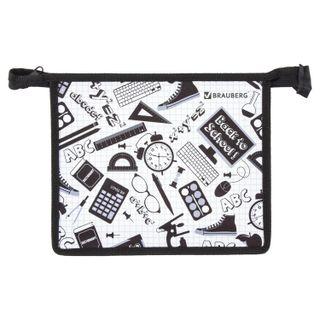 Folder for notebooks BRAUBERG, A5, 1 compartment, plastic, zipper top,