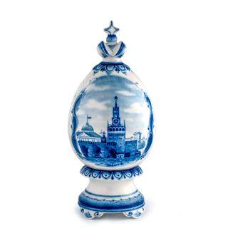 """Easter egg """"gift"""" great, Gzhel Porcelain factory"""