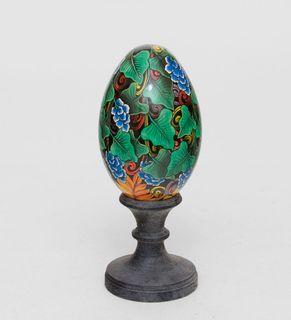 """Egg wooden """"Tropics"""" 15 cm"""