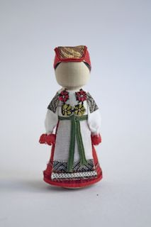 Doll gift. Women's costume of the 19th century. Voronezh province